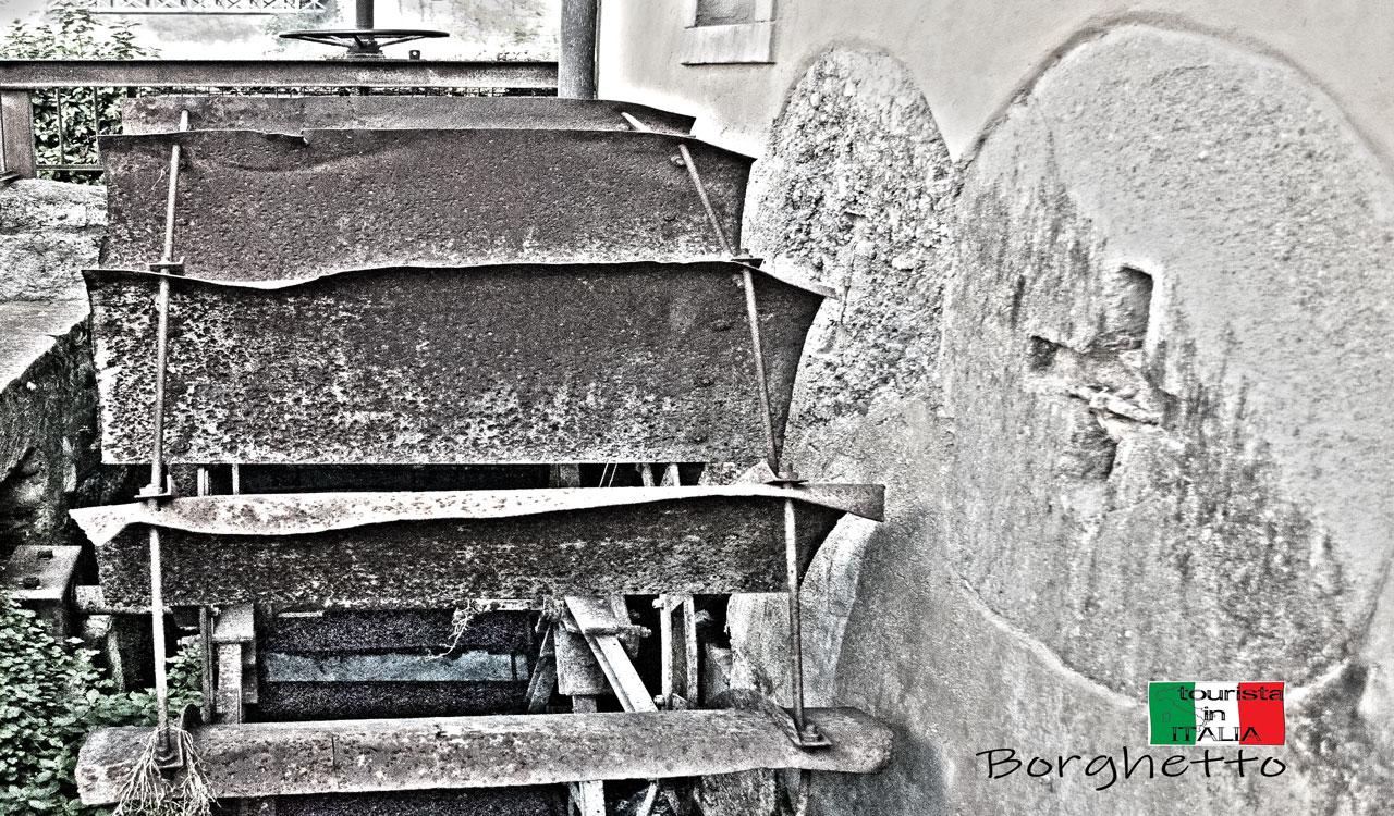 Borghetto, la pala di un mulino