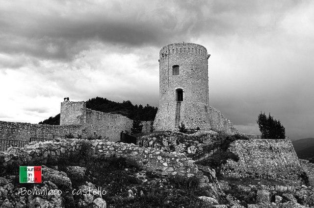 Bomniaco, castello, torre cilindrica