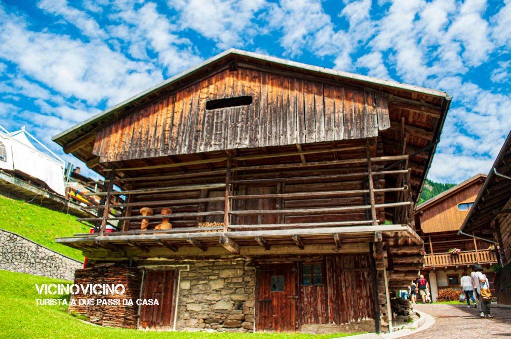Una tipica abitazione di Sauris