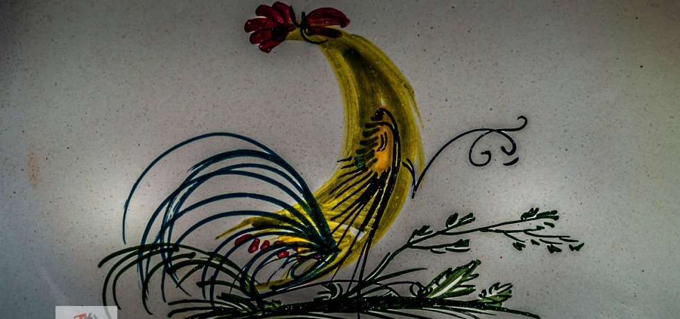 Castelli, disegno su ceramica - Turista a due passi da casa
