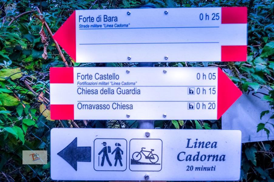 Ornavasso, indicazione percorsi- Turista a due passi da casa