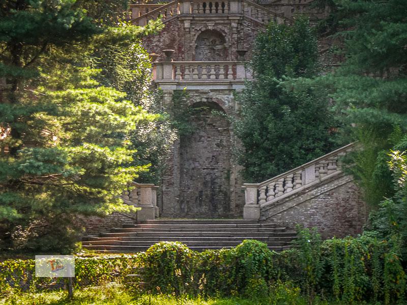 Castelletto di Cuggiono, villa Clerici, scalinata barocca - Turista a due passi da casa